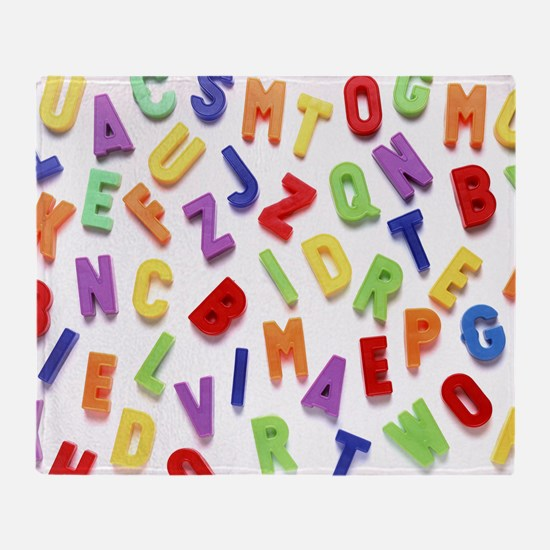 Alphabet - Throw Blanket