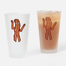 Happy Bacon Drinking Glass