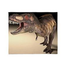 Tyrannosaurus rex dinosaur - Throw Blanket