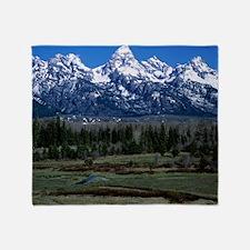 Teton mountain range - Throw Blanket