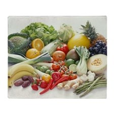 Fruits and vegetables - Throw Blanket