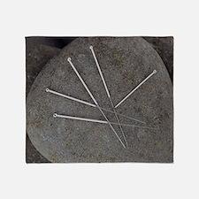 Acupuncture needles - Throw Blanket