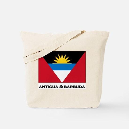 Antigua & Barbuda Flag Merchandise Tote Bag