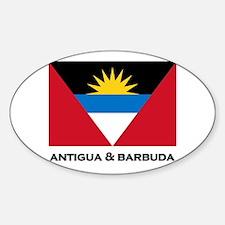 Antigua & Barbuda Flag Merchandise Oval Decal