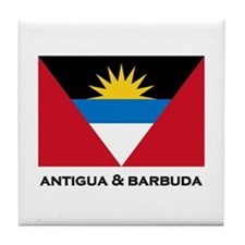 Antigua & Barbuda Flag Merchandise Tile Coaster