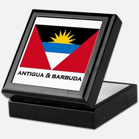 Antigua & Barbuda Flag Merchandise Keepsake Box