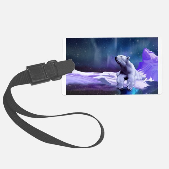 Contemplative Polar Bear Luggage Tag