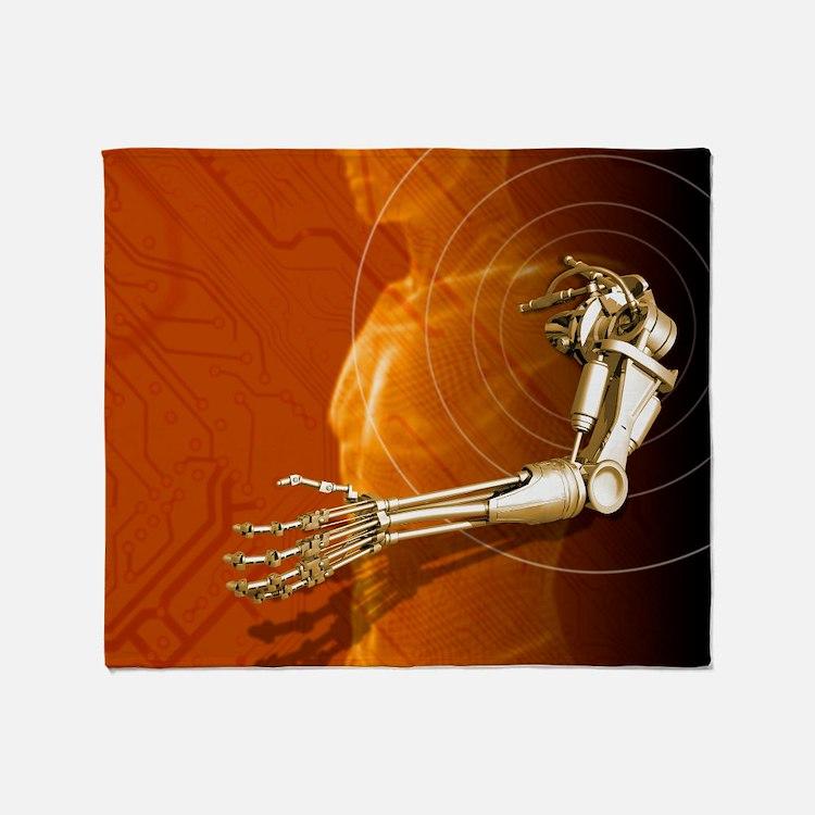 Prosthetic robotic arm, computer artwork - Stadiu