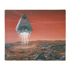 Artwork of exploration module landing on Mars - S