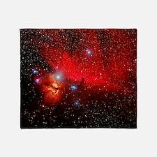 Horsehead and Flame nebulae - Throw Blanket