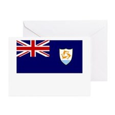 Anguilla Flag Picture Greeting Cards (Pk of 10