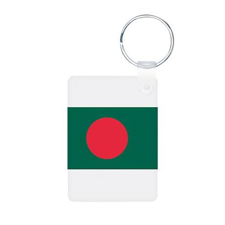 Flag of Bangladesh Aluminum Photo Keychain