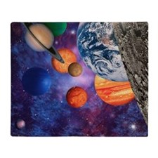 Solar system - Throw Blanket