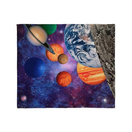 Solar system throw blanket by sciencephotos for Solar system fleece