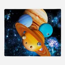 Solar system planets - Throw Blanket