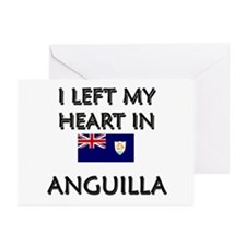 I Left My Heart In Anguilla Greeting Cards (Packag