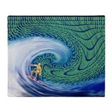 Abstract computer artwork of surfing the internet