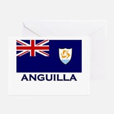 Anguilla Flag Gear Greeting Cards (Pk of 10)