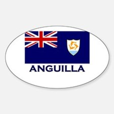 Anguilla Flag Gear Oval Decal