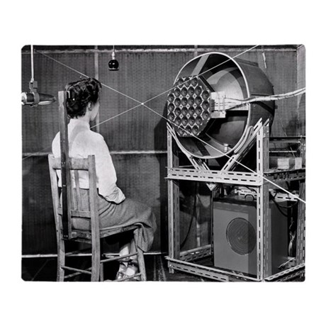 Acoustics test, 1954 - Throw Blanket