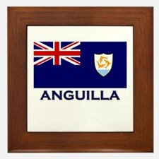 Anguilla Flag Gear Framed Tile