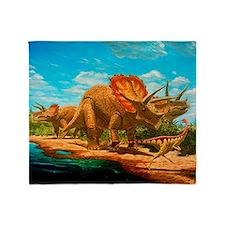 Cretaceous dinosaurs - Throw Blanket
