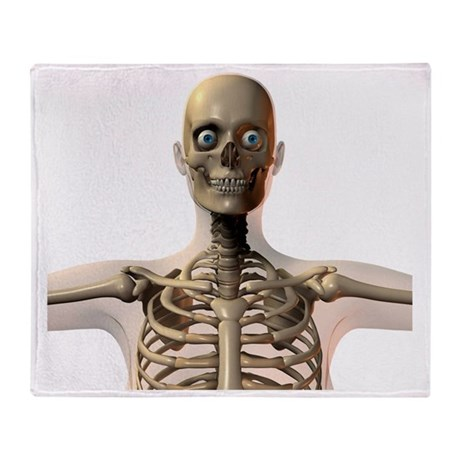 Upper body bones - Throw Blanket by sciencephotos