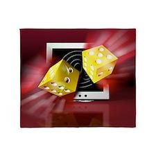 Online gambling - Throw Blanket