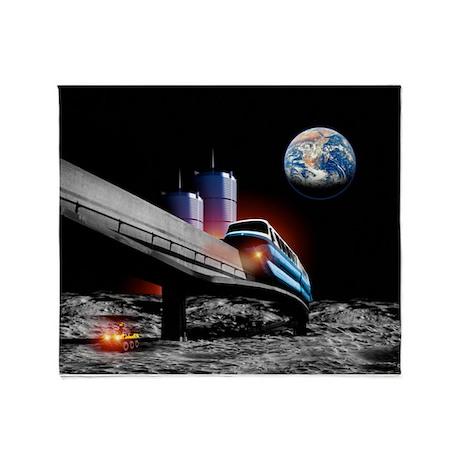 Moon monorail - Throw Blanket