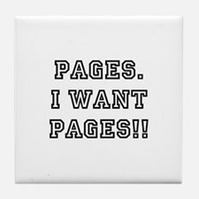 Pages. I want pages!! Tile Coaster