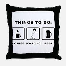 Kiteboarding Throw Pillow