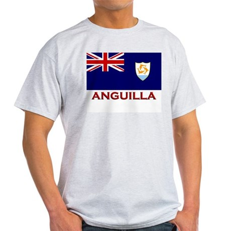 Anguilla Flag Merchandise Ash Grey T-Shirt