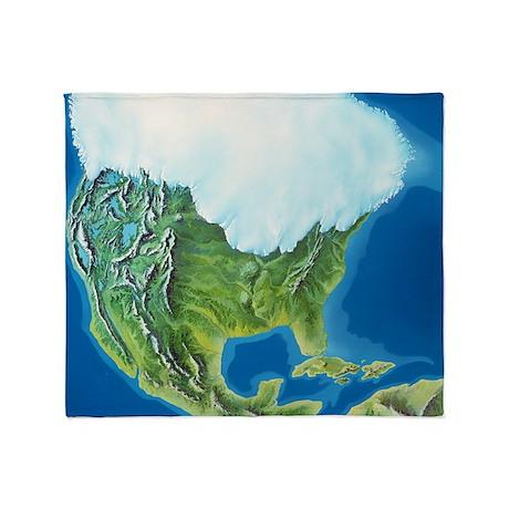 North American glaciation - Throw Blanket