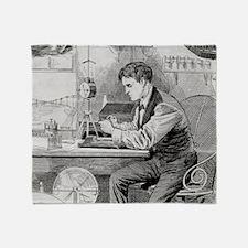 Thomas Edison, US inventor - Throw Blanket