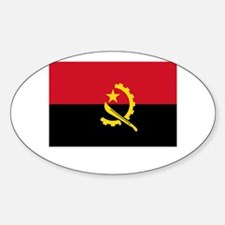 Angola Flag Picture Oval Decal