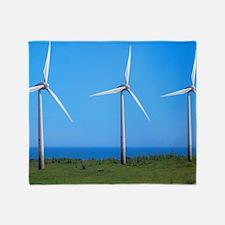 Wind farm - Throw Blanket