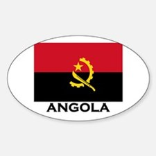 Angola Flag Stuff Oval Decal