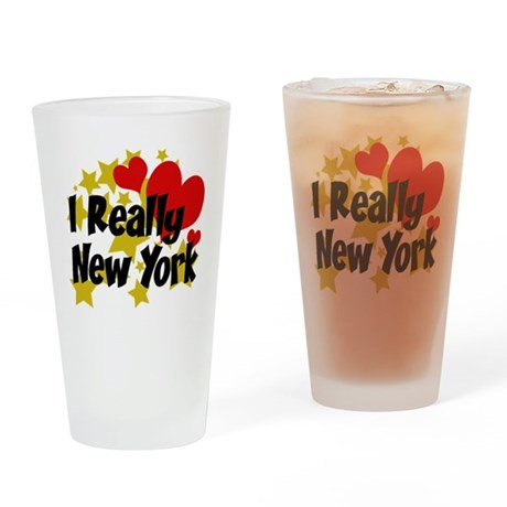 I Really Love New York Drinking Glass
