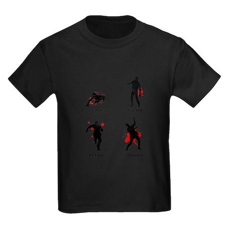 Zombie type Kids Dark T-Shirt