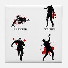 Zombie type Tile Coaster