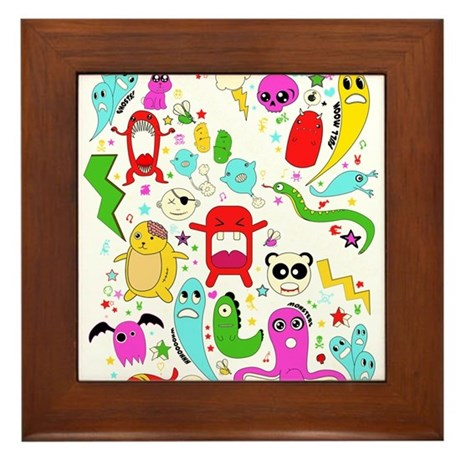 Are you afriad of the dark? Framed Tile