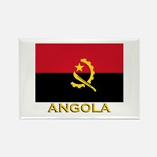 Angola Flag Gear Rectangle Magnet