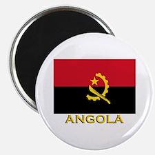 Angola Flag Gear Magnet