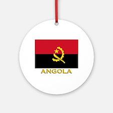 Angola Flag Gear Ornament (Round)