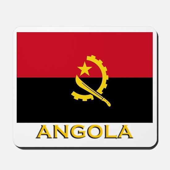 Angola Flag Gear Mousepad