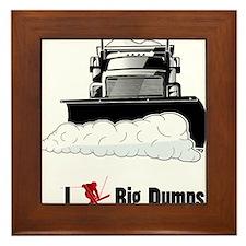 I ? big dumps Framed Tile