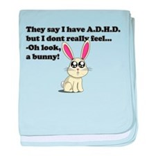 ADHD bunny baby blanket