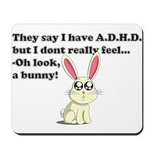ADHD bunny Mousepad