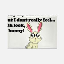ADHD bunny Rectangle Magnet
