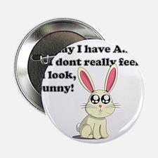 """ADHD bunny 2.25"""" Button"""